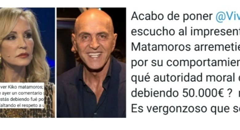 Carmen Lomana humilla a Kiko Matamoros reclamandole 50000 euros