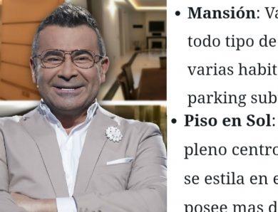 Te trastornaras cuando veas el dinero y patrimonio que tiene Jorge Javier Vázquez