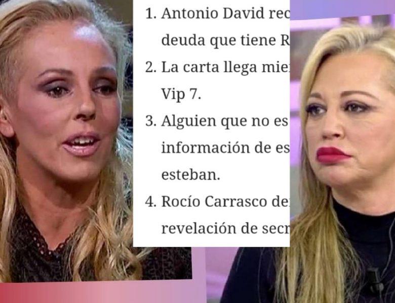 Rocío Carrasco demanda a Belen Esteban por culpa de Antonio David