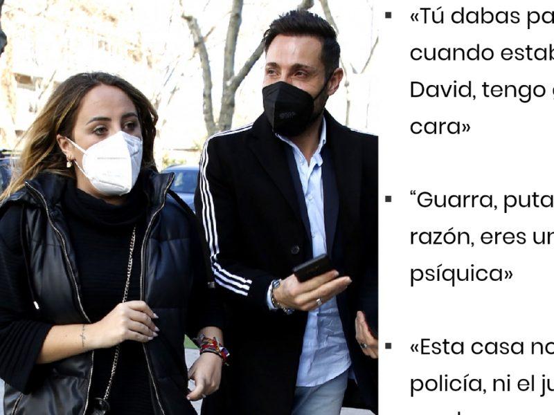 «Guarra mi padre tenia razón» A. David manipula a Rocío Flores según recogen estas frases de la sentencia