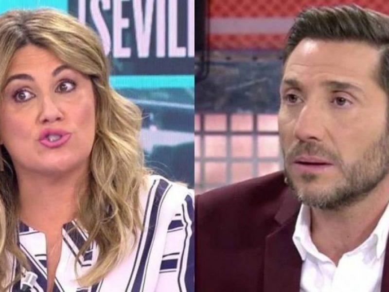 Carlota Corredera pilla a A. David detrás de las intervenciones de Rocío Flores