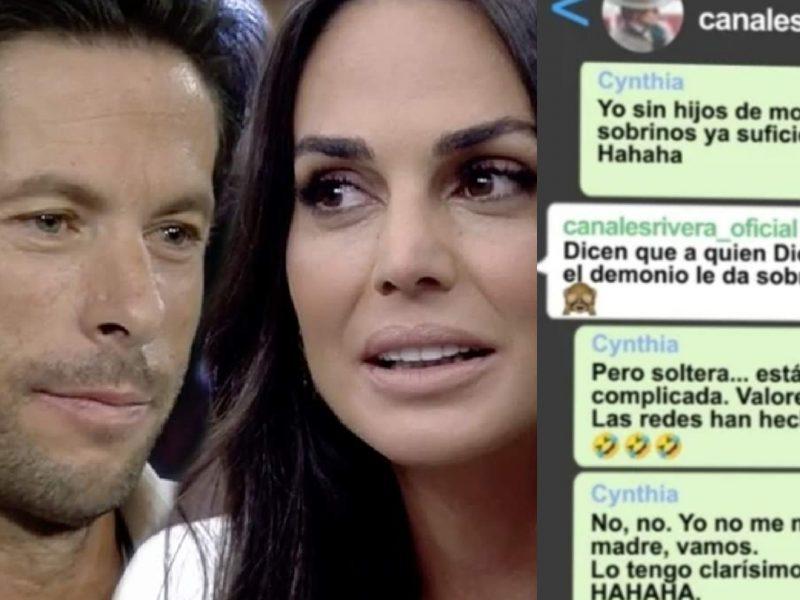 Los viciosos mensajes que se enviaban Cynthia y Canales Rivera