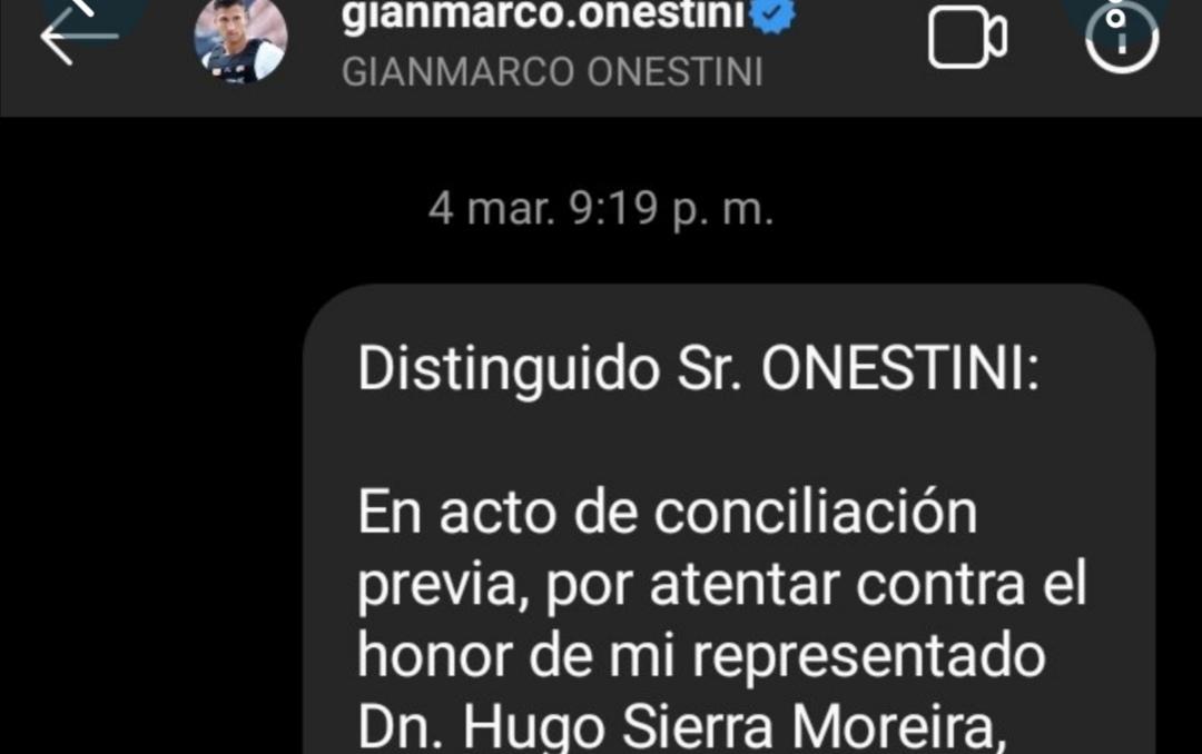 Comunican a Gianmarco acciones legales por parte de hugo