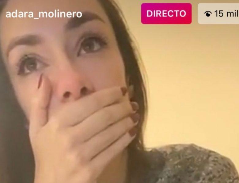 Adara llora desconsolada (en directo)tras las confesión de su madre