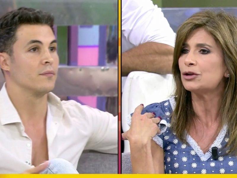 Kiko Jiménez deja con la cara Roja a Gema López al pillarla criticando a Rocío Carrasco